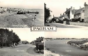 Vintage Real Photo Multi View Postcard, PAGHAM, West Sussex 28T
