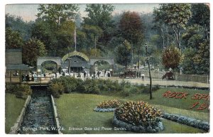 Rock Springs Park, W. Va., Entrance Gate and Flower Garden