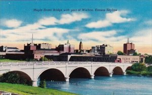 Maple Street Bridge With Part Of Wichita Kansas Skyline Wichita Kansas