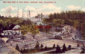 EAST RIVER DRIVE FAIRMOUNT PARK PHILADELPHIA PA 1915 John M Miller Candy Samples
