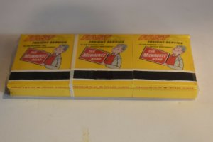 6 The Milwaukee Freight Service The Fastest Run in the West Matchbooks