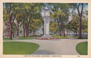 Clock on the Green - Waterbury CT, Connecticut - Linen