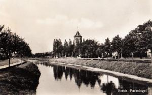 Breda Parksingel River Lake Holland Dutch Real Photo WW2 Rare Wartime Postcard