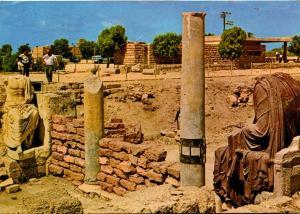 Israel Caesarea Ruins Of A Byzantine Public Building With Roman Statuary 1973