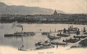 Switzerland Geneve Le Port Bateaux Harbour Postcard