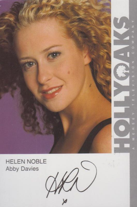 Helen Noble Hollyoaks Vintage Hand Signed Official Rare Cast Card Photo