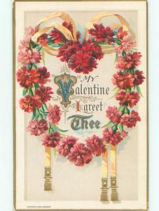 Divided-Back VALENTINE DAY SCENE Great Postcard W7895