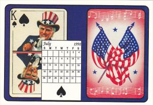 1992 Playing Card Calendar Series July