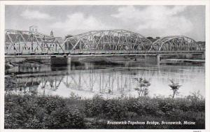 Maine Brunswick Brunswick-Topsham Bridge Curteich