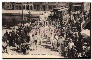 Old Postcard This Jousting The parade jousters Tramway TOP
