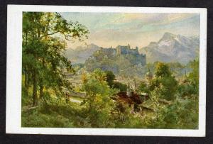 Austria Salzburg vom Imberg Artist Signed Art Postkarte Carte Postale Postcard