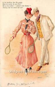Woman in Sports s Publisher PFB Tennis Writing on back writing on front