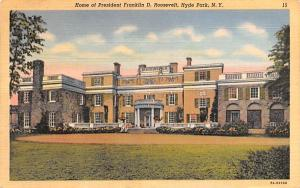 Home of President Franklin D Roosevelt Hyde Park, New York Postcard