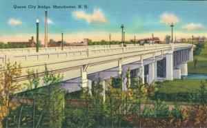 USA New Hampshire Queen City Bridge and more Postcard Lot of 6  01.19