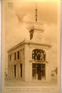 1930's rppc BENNETT'S JEWELRY SHOP in Dearborn Michigan MI postcard v0309