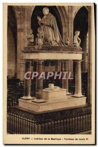 Old Postcard Interior Clery of Louis XI Shrine Basilica