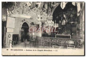 Old Postcard Rocamadour Interior of the Chapel Miraculous