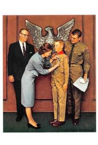 Young Scout, Medal, Coat of Arms, Uniforms A Great Moment by Norman Rockwell