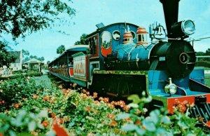 Vintage Post Card The Transveldt Railway Busch Gardens, Tampa, Florida G2