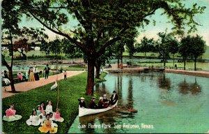 Vtg Carte Postale C 1908 San Pedro Park San Antonio - non Utilisé