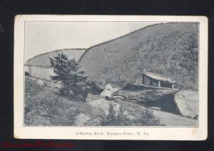 HARPERS FERRY WEST VIRGINIA JEFFERSON ROCK ANTIQUE VINTAGE POSTCARD 1906