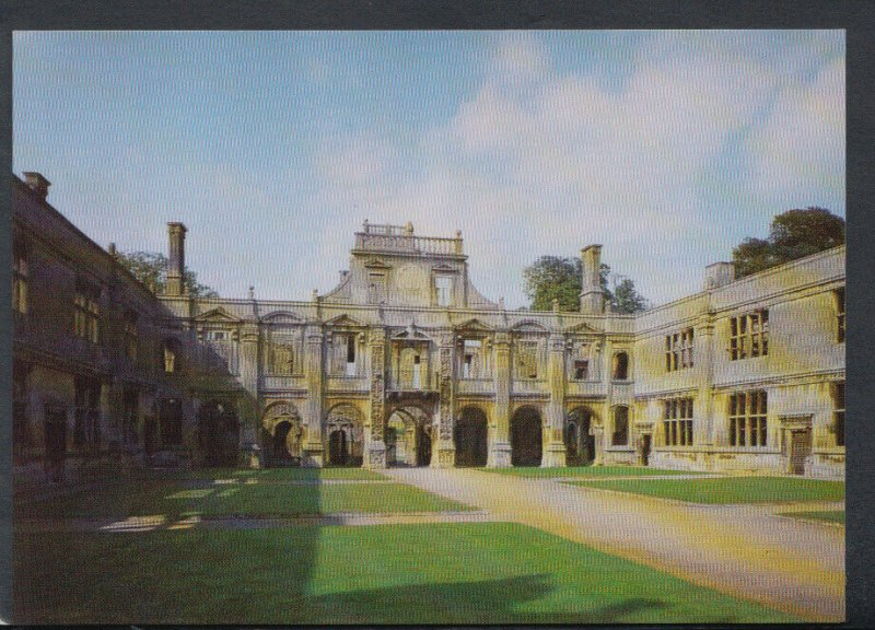 Northamptonshire Postcard - Kirby Hall - The Inner Court   T4284