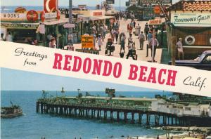 Redondo Beach, CaliforniaCA Postcard, Fisherman's Wharf/Coke