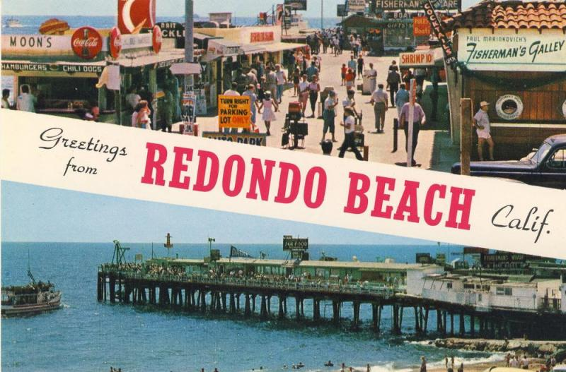 Redondo Beach, CaliforniaCA Postcard, Fisherman's Wharf/Coke