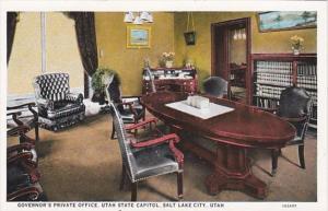 Utah Salt Lake City Governor's Private Office Utah State Capitol Curteich