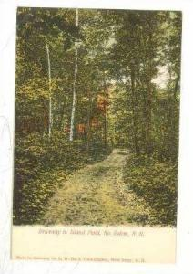 Driveway to Island Pond, North Salem, New Hampshire, Pre-1907