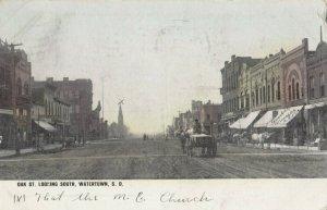 WATERTOWN , South Dakota , 1908 ; Oak Street , South