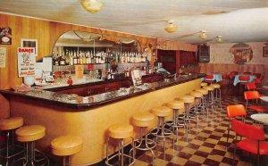 DICK'S SILVER DOLLAR BAR Bliss, ID Saloon Interior c1950s Vintage Postcard