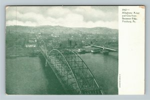Pittsburg PA-Pennsylvania Allegheny River & City, Bessemer, Vintage Postcard