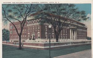 UTICA , New York , 1910s ; Soldiers & Sailors Hospital