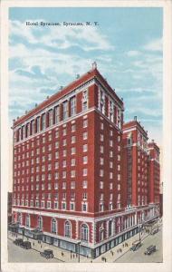 New York Syracuse Hotel Syracuse 1927