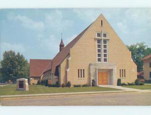 Unused Pre-1980 CHURCH SCENE Shawano Wisconsin WI A6504