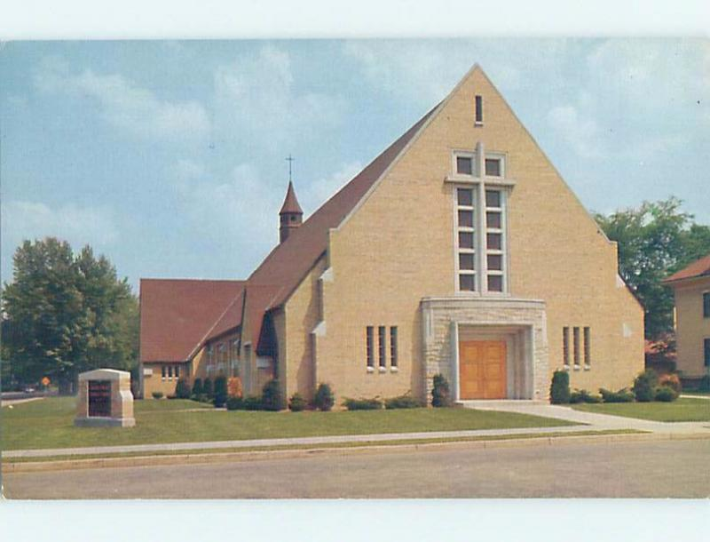Unused Pre-1980 CHURCH SCENE Shawano Wisconsin WI A6504