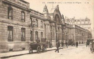 Paris. Le Palais de l'Elisee. Horse cars Old vintqageFrench postcard