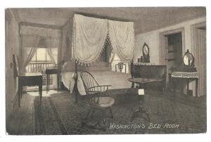 VA Mount Vernon Martha Washingtons Bedroom Vtg Postcard Almours Securities