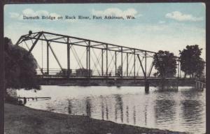 Damouth Bridge,Fort Atkinson,WI Postcard