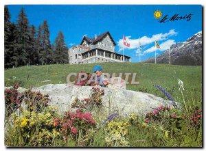 Modern Postcard St Moritz Hotel Waldhaus am See