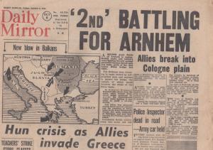Daily Mirror British Army Crosses Rhine War WW2 ORIG Newspaper