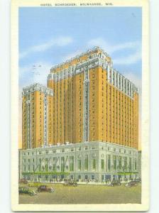 Linen SCHROEDER HOTEL Milwaukee Wisconsin WI HQ3317