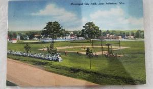 Antique/Vintage Postcard, Municipal City Park, East Palestine, Ohio