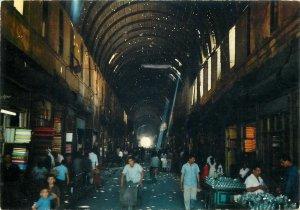 Post card Syria Damascus La Rue Droite street view street vendors