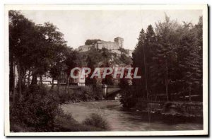 Old Postcard Lourdes Le Chateau Fort and the Gave
