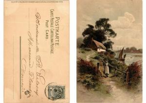 CPA Keine Sorg um den Weg Meissner & Buch Litho Serie 1277 (730614)