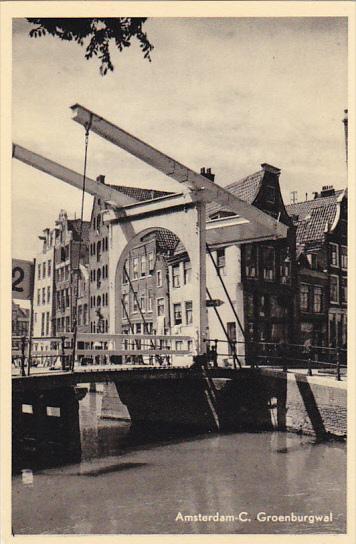 Netherlands Amsterdam Groenburgwal Real Photo