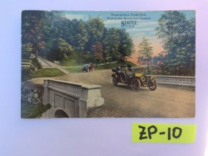 Passing thru Frink Park Part of the Boulevard System SEA Vintage Postcard ZP-10