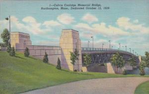 Massachusetts Northampton Calvin Coolidge Memorial Bridge Curteich